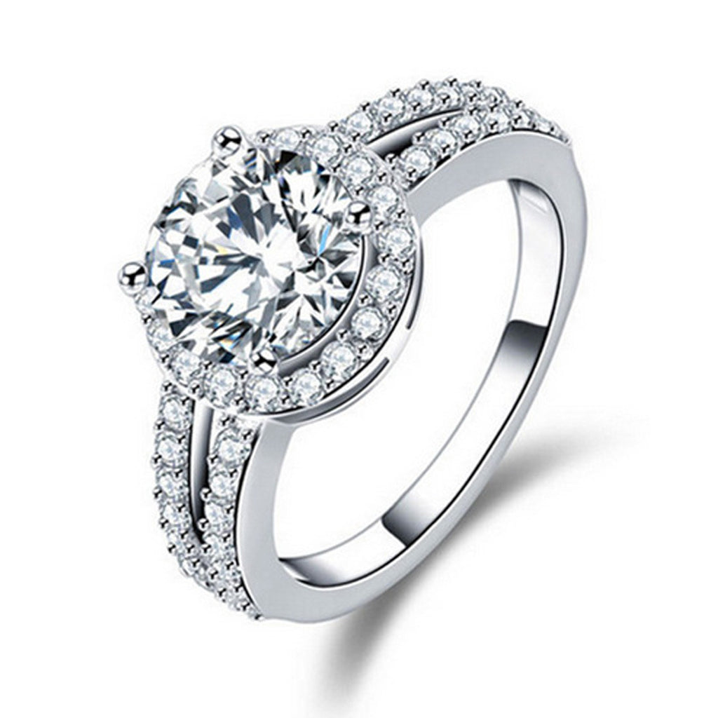 R211AS -  TWLLE Jewelry - Affordable Sterling Silver Wedding Engagement Ring in Nigeria