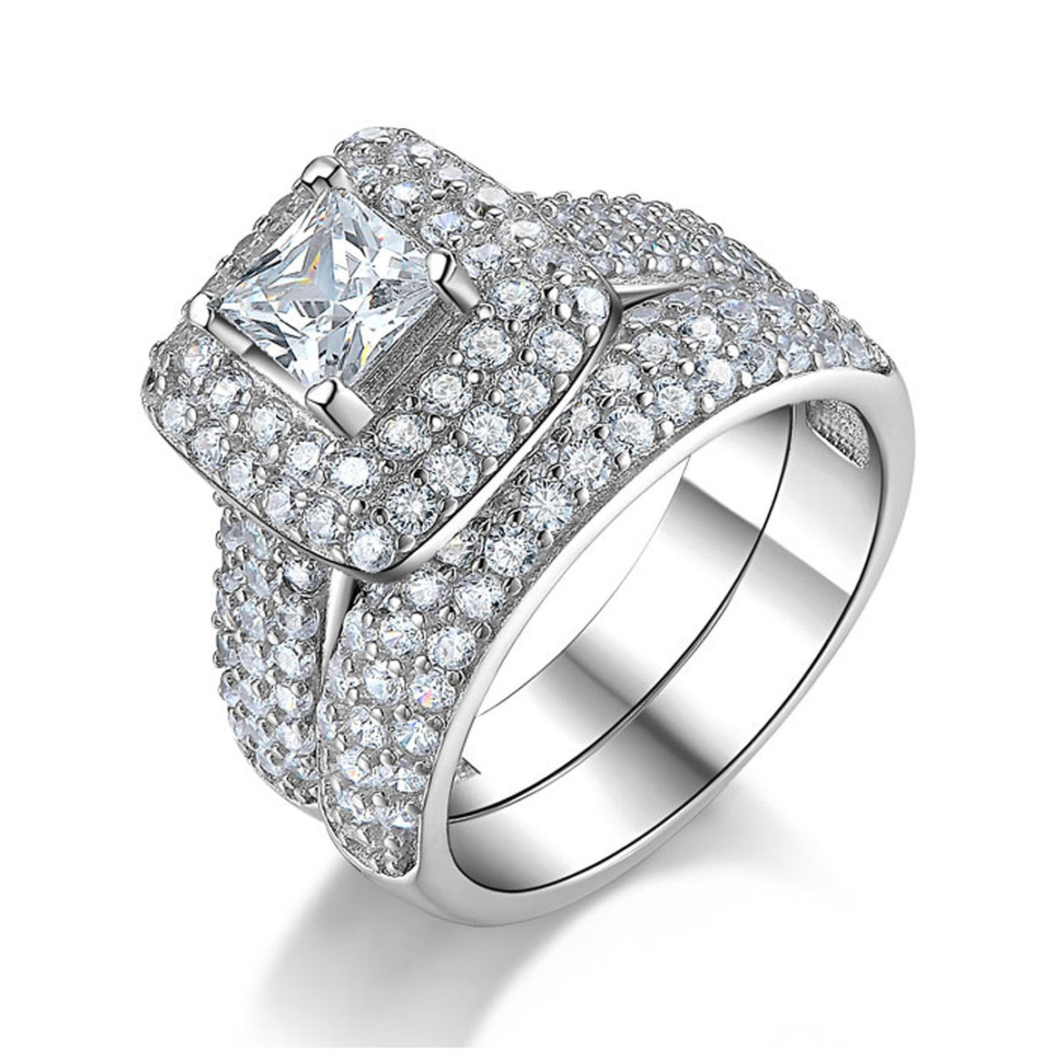 R3400S -  TWLLE Jewelry - Affordable Sterling Silver Wedding Engagement Ring in Nigeria