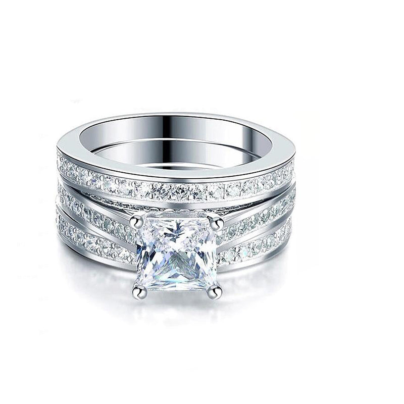 R3406S -  TWLLE Jewelry-- Affordable Sterling Silver Engagament & Wedding Ring - Affordable Sterling Silver Wedding Engagement Ring in Nigeria