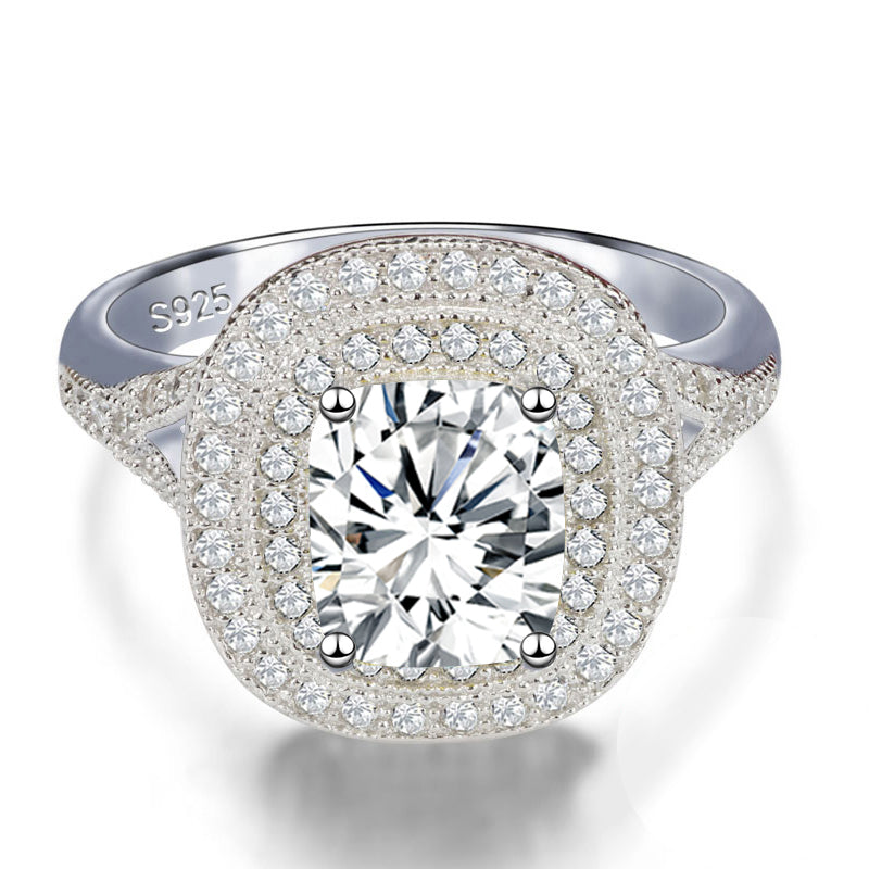 R4314S -  TWLLE Jewelry - Affordable Sterling Silver Wedding Engagement Ring in Nigeria