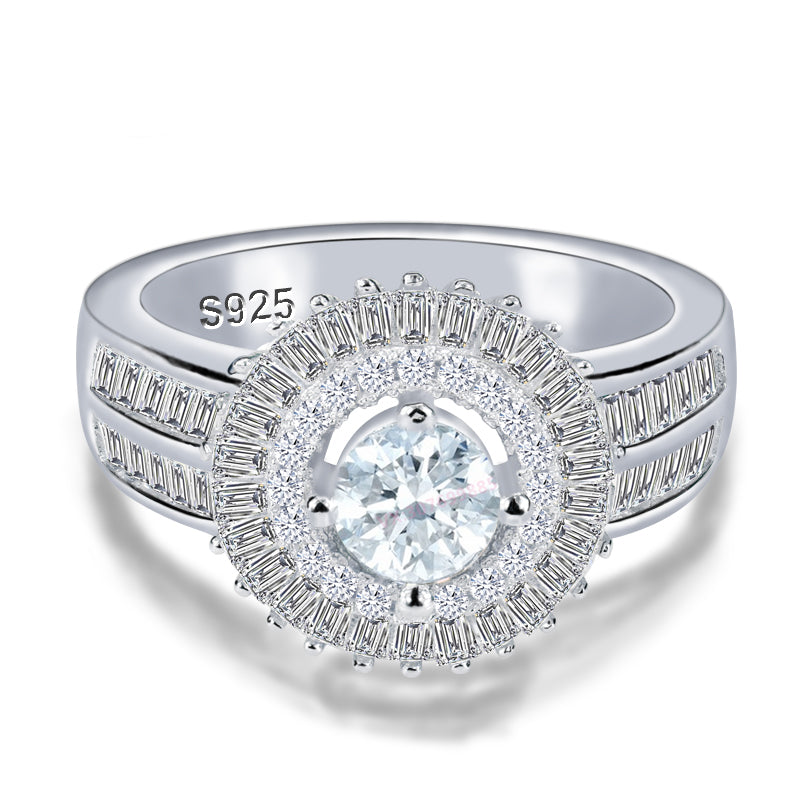 R4316S -  TWLLE Jewelry - Affordable Sterling Silver Wedding Engagement Ring in Nigeria