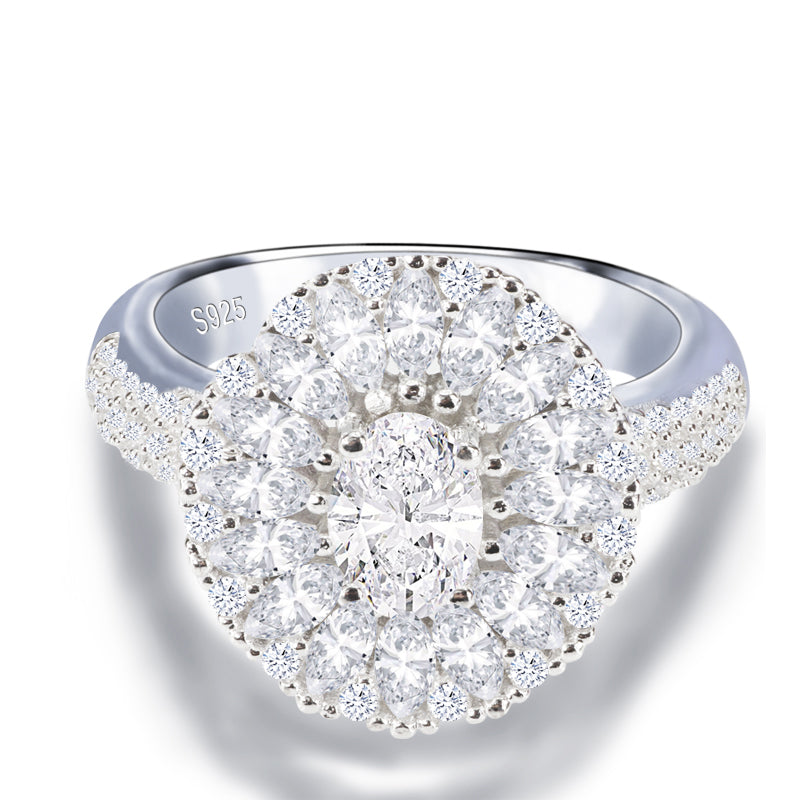 R4318S -  TWLLE Jewelry - Affordable Sterling Silver Wedding Engagement Ring in Nigeria