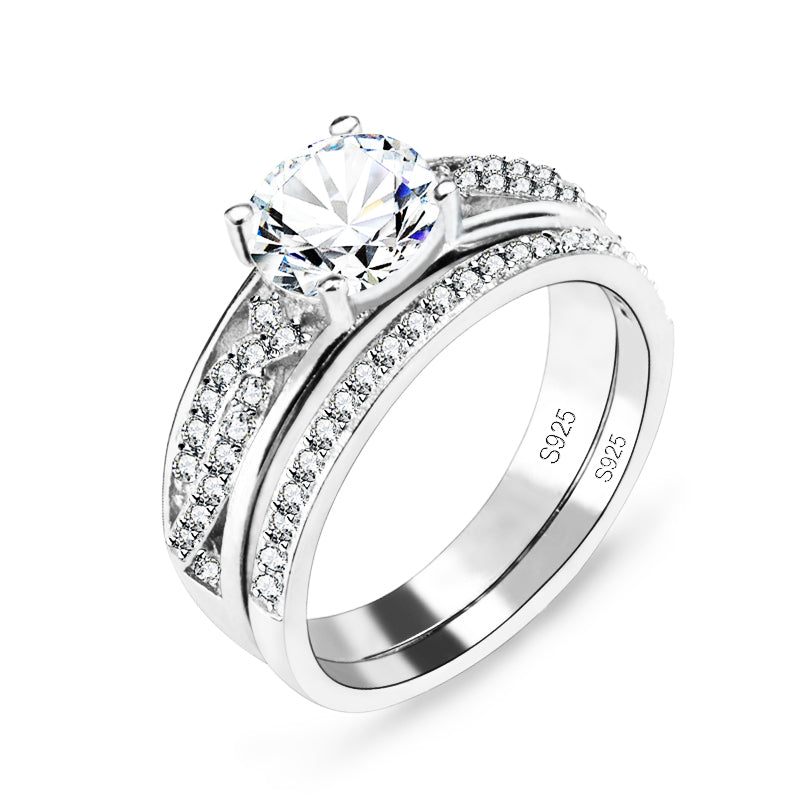 R4327S -  TWLLE Jewelry-- Affordable Sterling Silver Engagament & Wedding Ring - Affordable Sterling Silver Wedding Engagement Ring in Nigeria