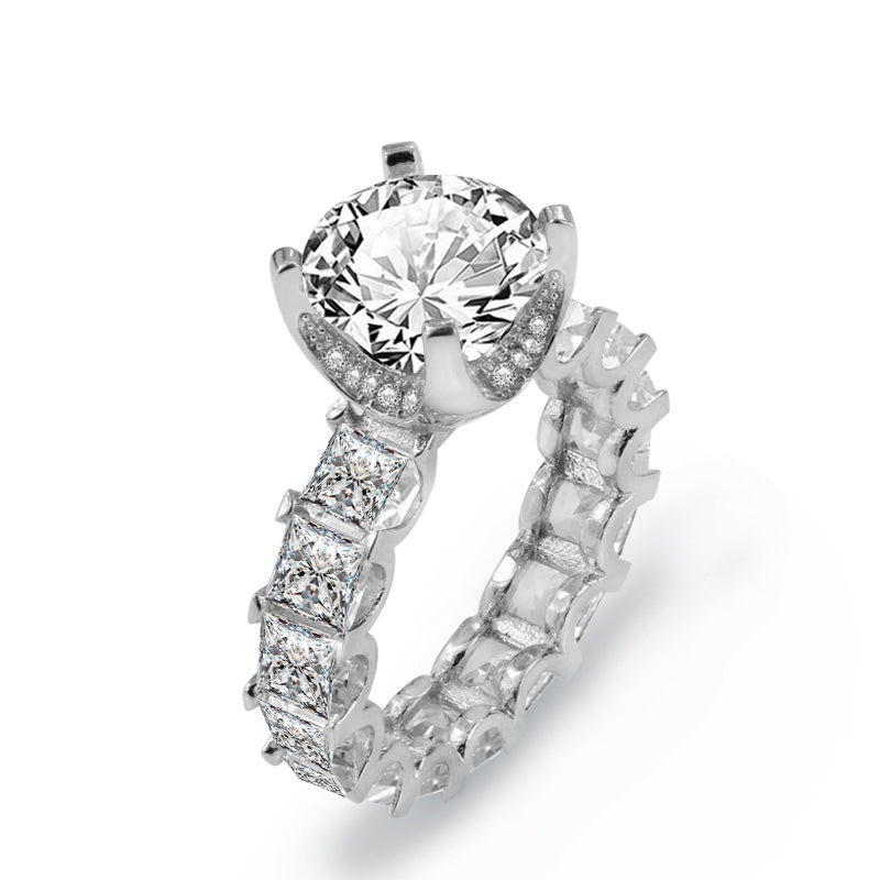 R4366S -  TWLLE Jewelry-- Affordable Brand for Sterling Silver Jewelry - Affordable Sterling Silver Wedding Engagement Ring in Nigeria