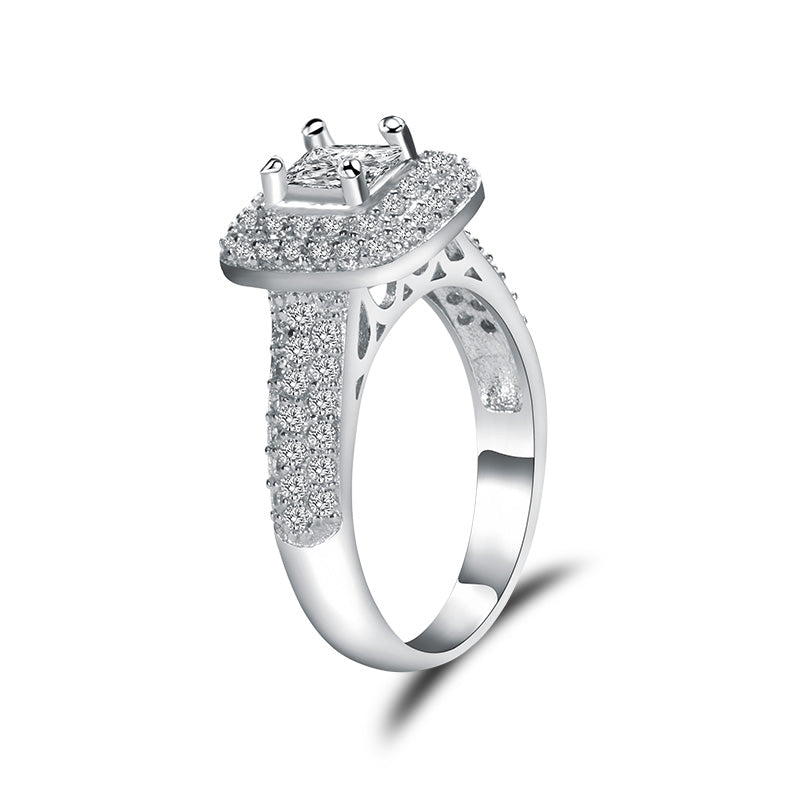 R4418S -  TWLLE Jewelry-- Affordable Brand for Sterling Silver Jewelry - Affordable Sterling Silver Wedding Engagement Ring in Nigeria