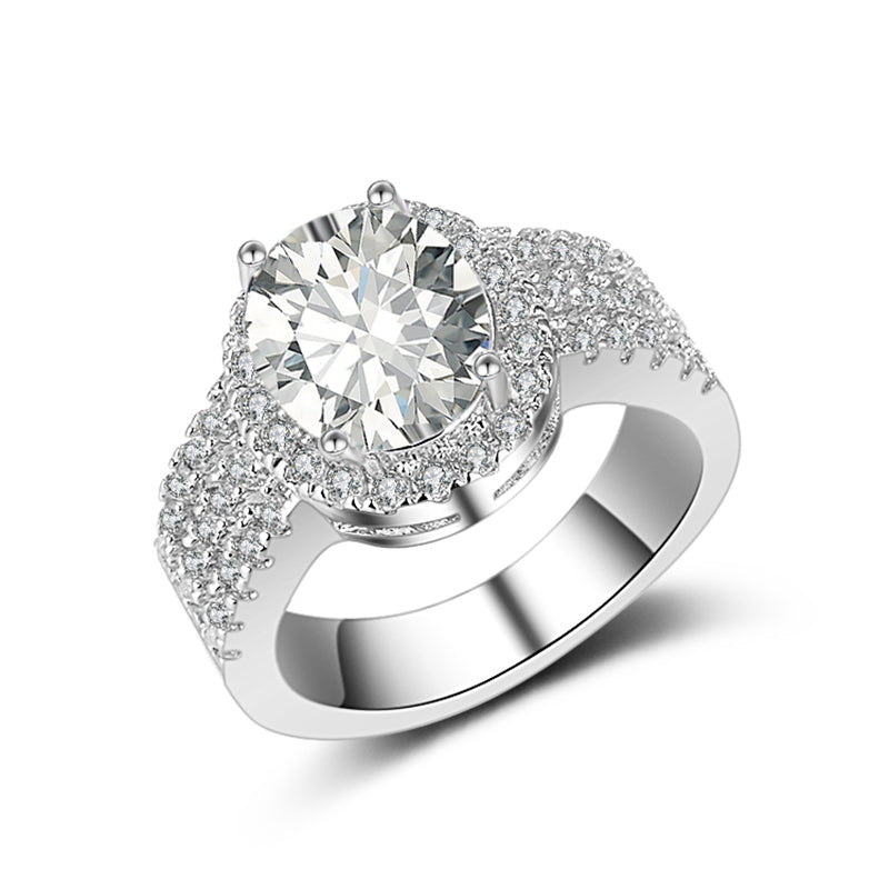 r4423s -  TWLLE Jewelry-- Affordable Brand for Sterling Silver Jewelry - Affordable Sterling Silver Wedding Engagement Ring in Nigeria