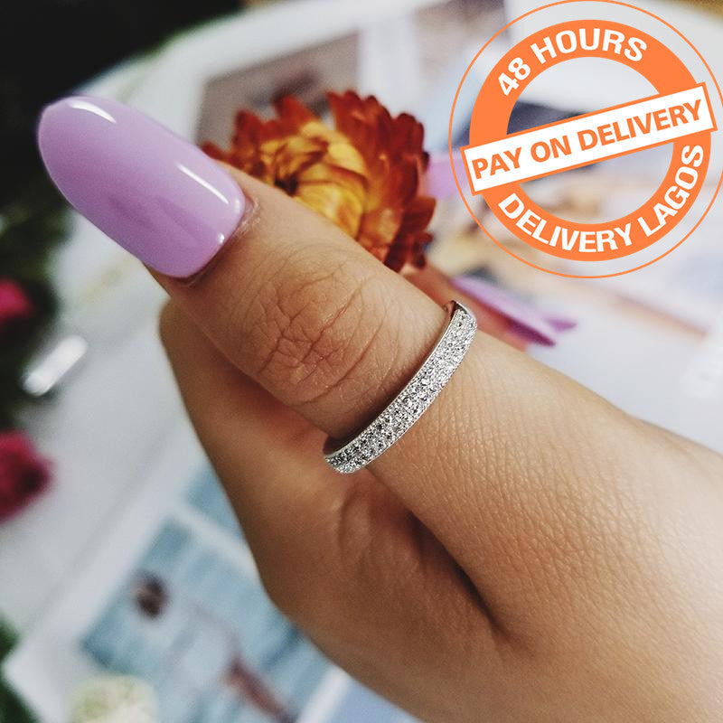 925 Sterling Silver Wedding eternity band Ring For women fashion party anniversary finger jewelry R779ASBuy mate