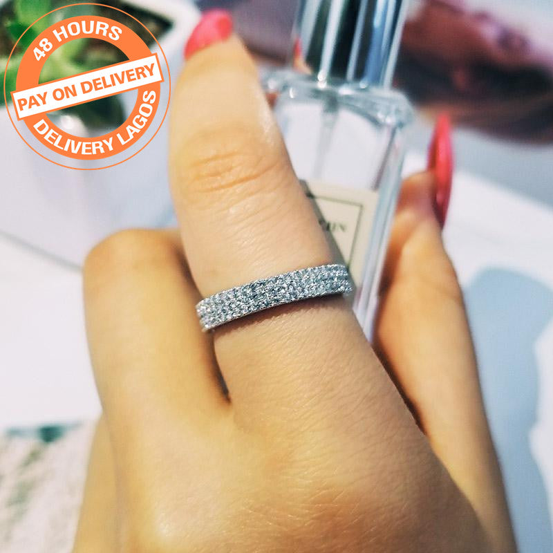 925 Sterling Silver Band eternity Ring for Wedding Engagement luxury ring finger wholesale Jewelry R721S
