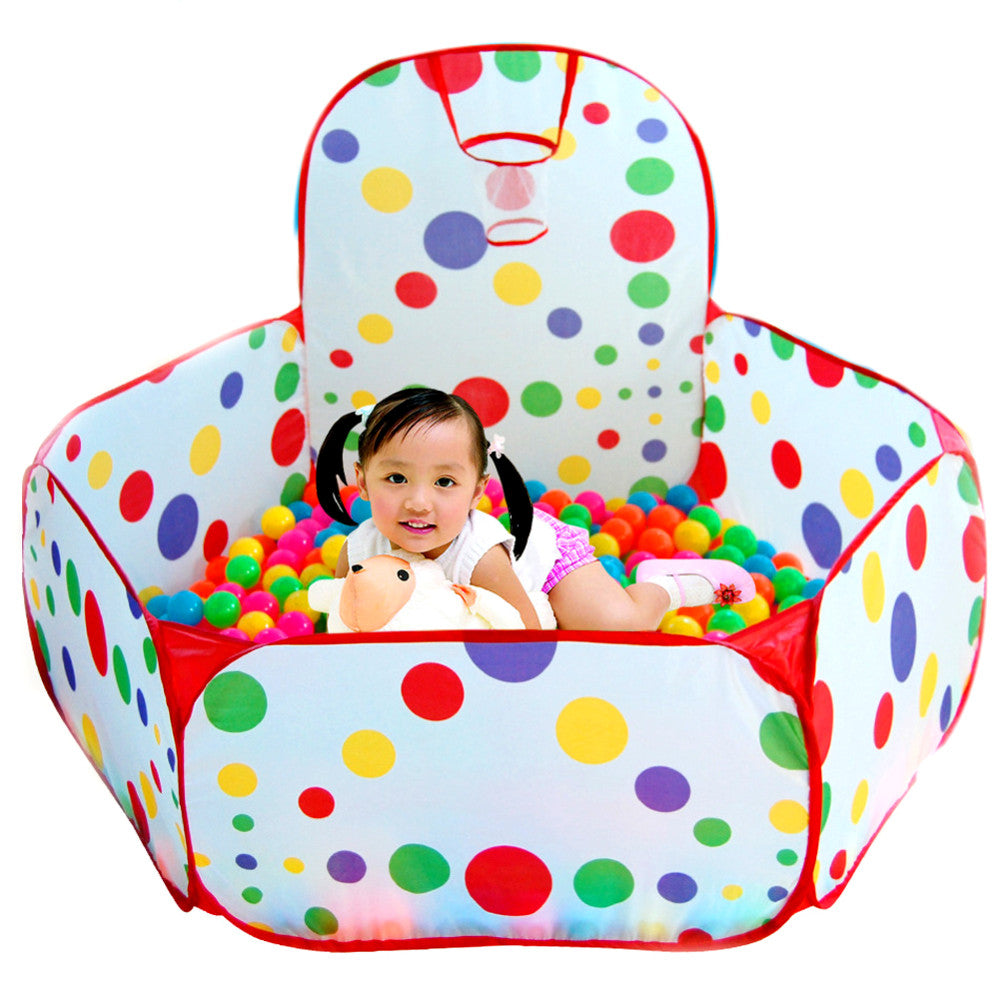 Foldable Children's Toys Ocean Balls Baby Play Ball Pool With Basket