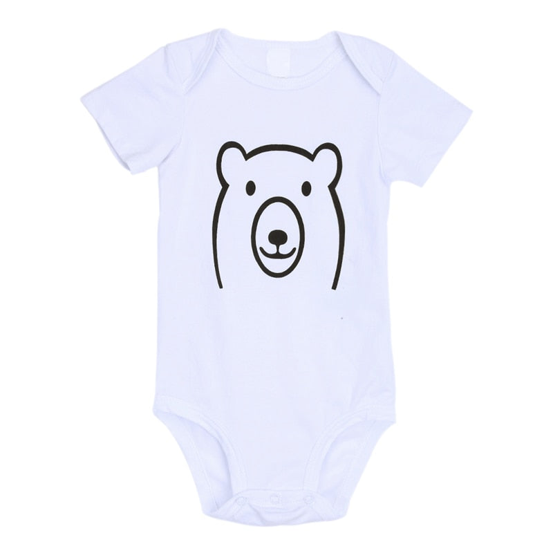 Baby Boy Girl Clothes Newborn Baby Bear Print Romper Short