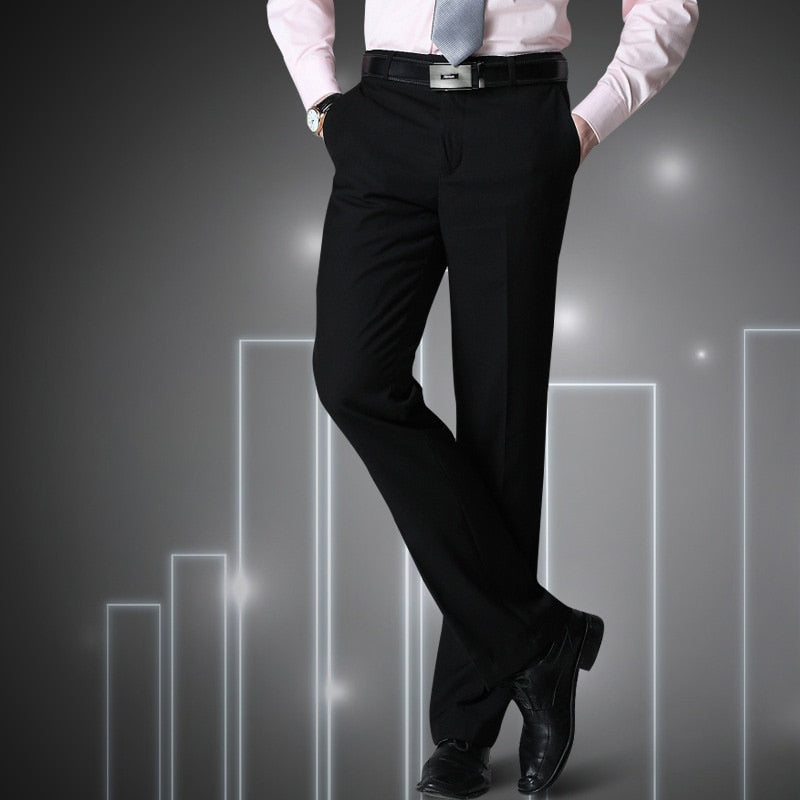 black male suit pants slim fit business trousers brand man spring  clothes p3545Buy mate
