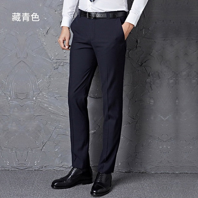 black male suit pants slim fit business trousers brand man spring  clothes p3545US SIZE NO BELT D BL / 30Buy mate