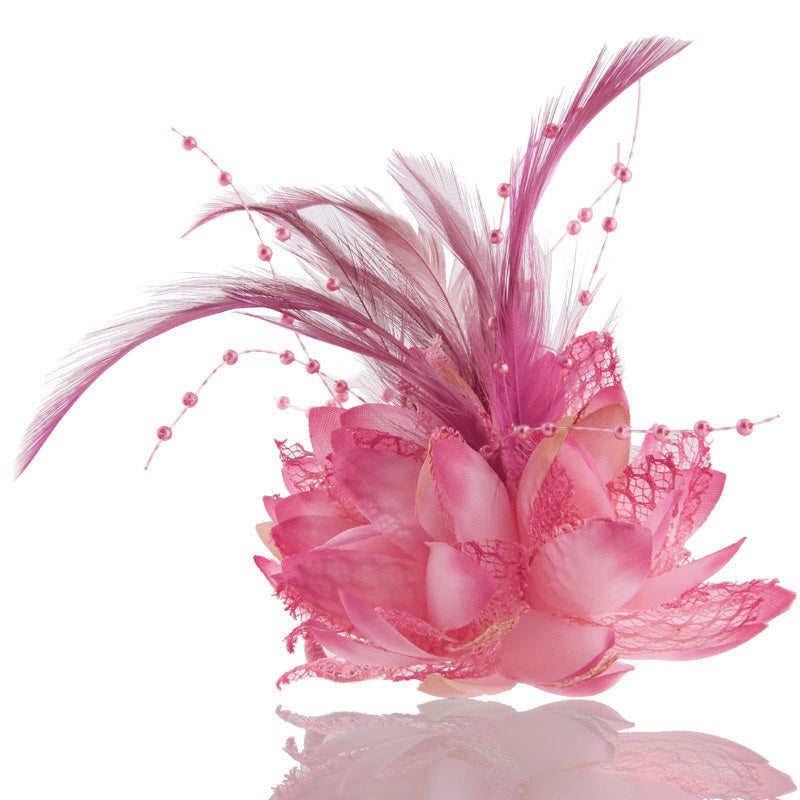 Flower Feather Elastic Hair Head Band Wrist Cuff Wedding Party Bridal Hair Clips Hairpin Corsage p3679Buy mate