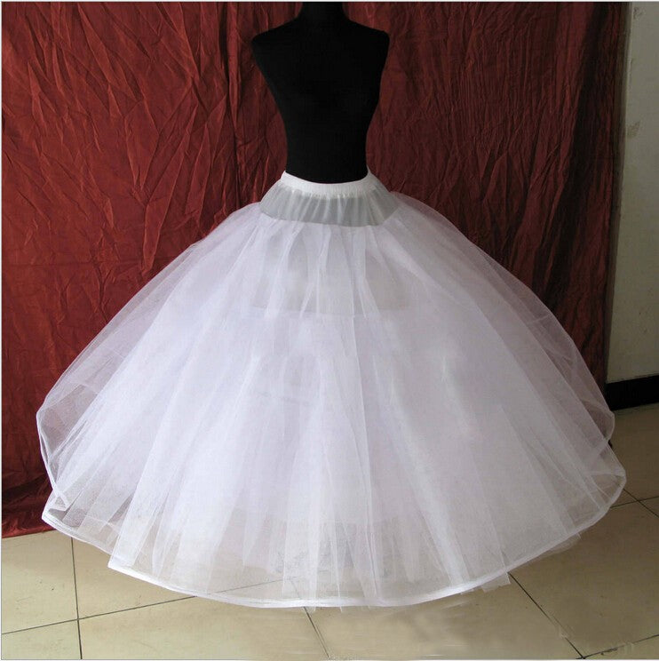 8 Layers No Bone White Tulle Puffy Petticoat Wedding Accessories Wedding Underskirt For Wedding Dress p3588Buy mate