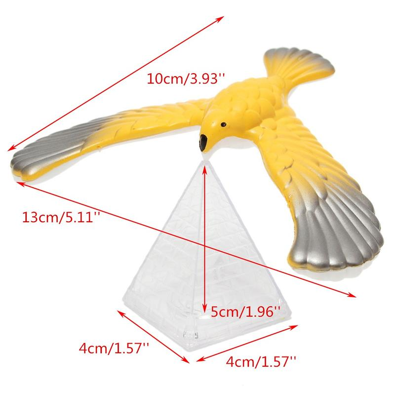 Amazing Eagle Magic Box Balancing Bird Desk Display Decor Doll