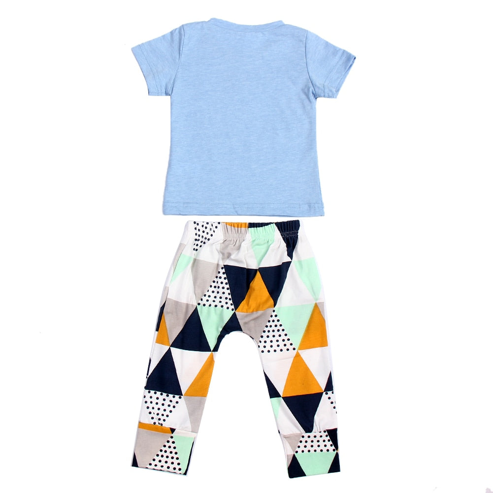 Summer Baby Clothing Set Boys Cotton Short Sleeve T-Shirt+Pant Outfit Kids Casual Clothes p2555Buy mate