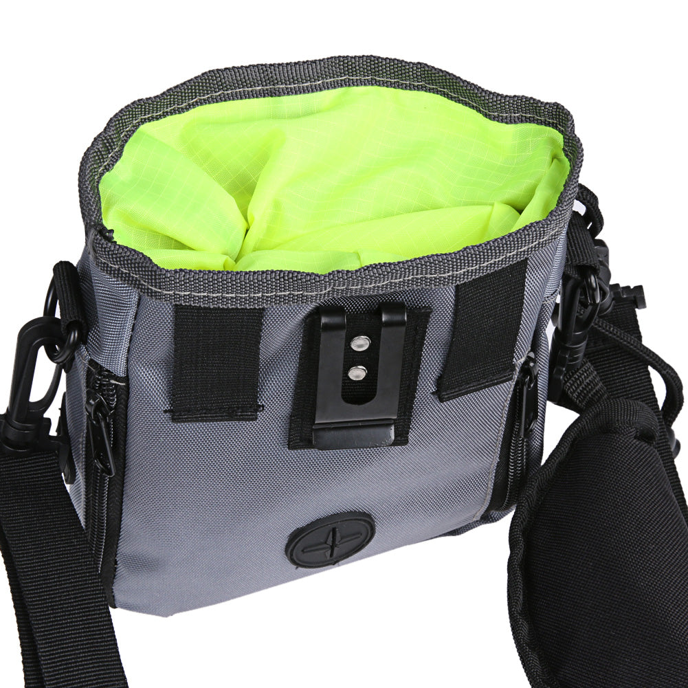 Treat Pouch with Built-In Poop Bag Water-proof DogWaist Belt
