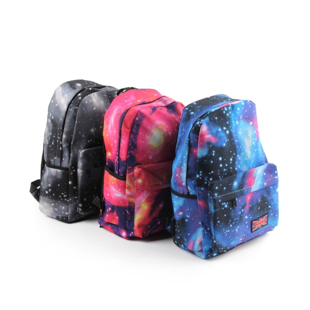 New for Galaxy Pattern Unisex Travel Backpack Canvas Leisure Bags School bag Rucksack p2707