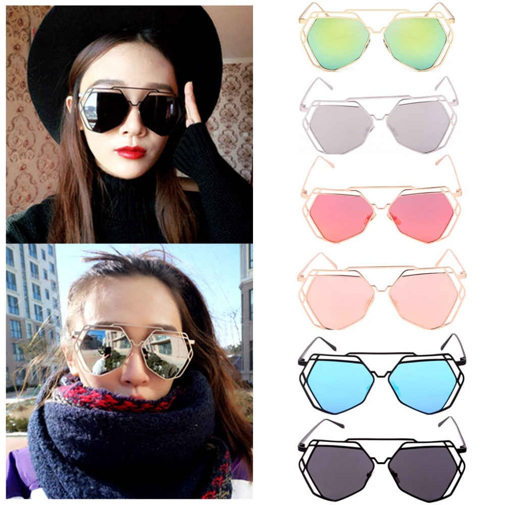 Summer Women's Gold Retro Cat Eye Sunglasses Women Oversized Designer Vintage Fashion Shades Brand p6097