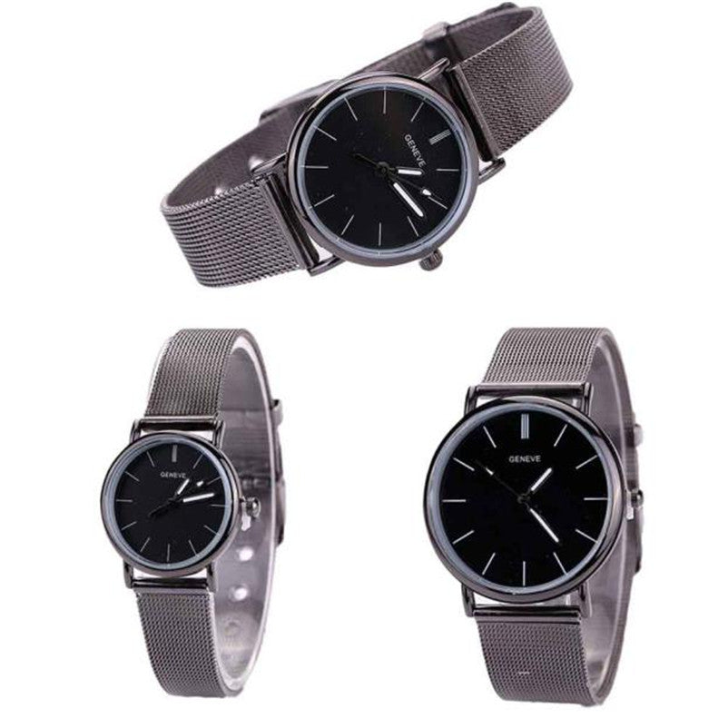 Lovers Luxury Brand Metal Hot Mesh Band Quartz Wrist Watch Role Luxury Watch p3486Buy mate