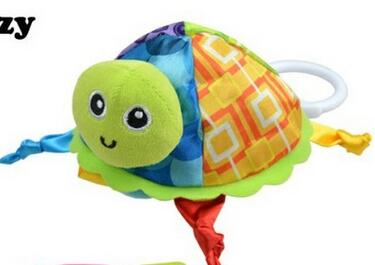 Baby Rattle Toys  Little Turtle Plush Toys Infant Appease Towels Doll