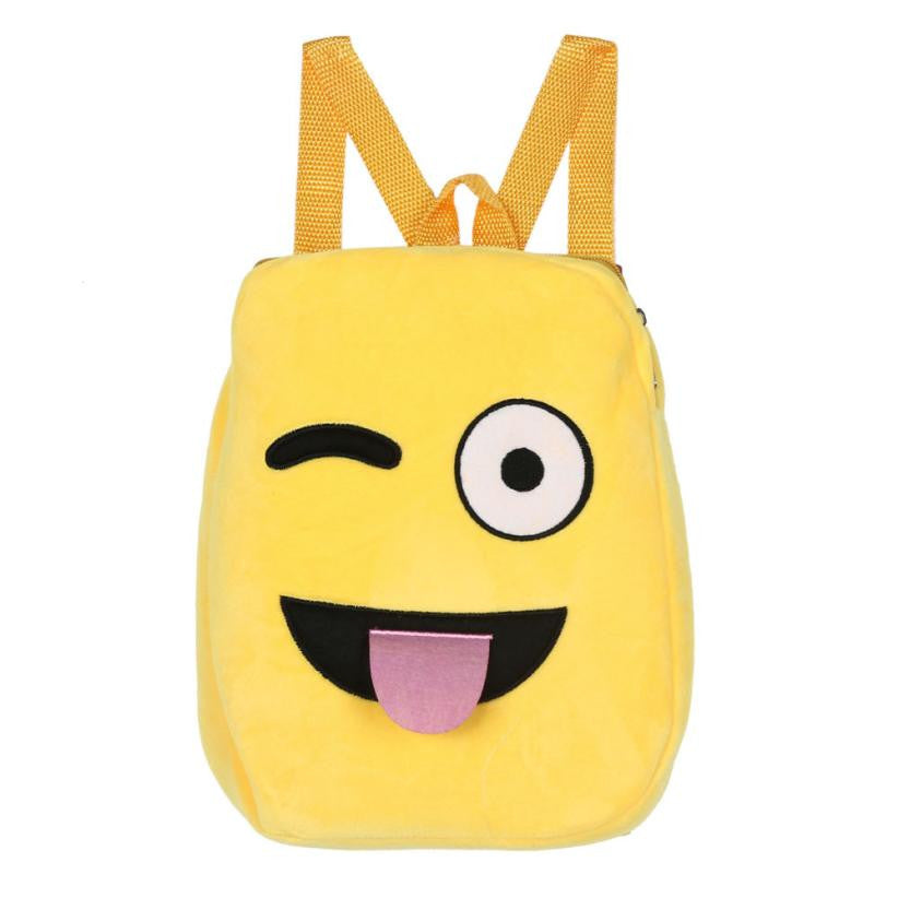 Backpacks Girls Shoulder School Child Bag Cute Emoji Emoticon Children Satchel p2649