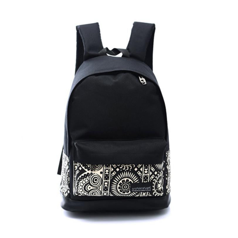 School Book Bags Canvas Rucksack Fashion Simple Backpack Men Shoulder Bag bolsa p2638