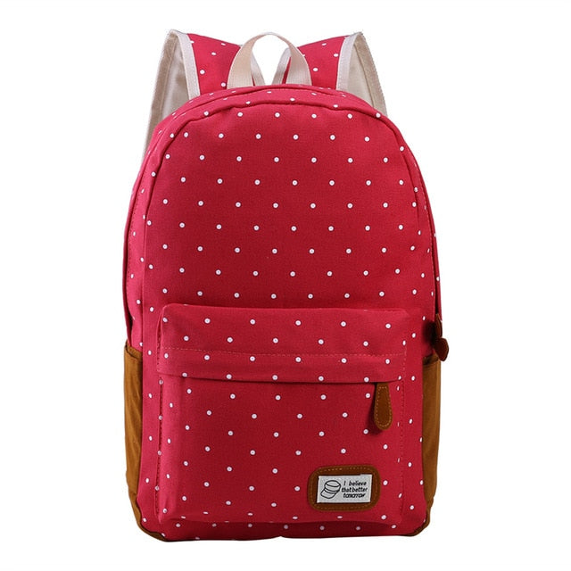 Vintage Stylish Canvas Women Backpack Bags For School Teenagers Girls Ladies Camping p2705