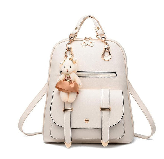 dc3ca2aa84 New Designer Women Backpack For Teens Girls Preppy Style School Bag PU  Leather p2692