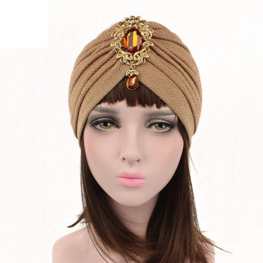 New Arrival Women Hat Beanie Casual Soft Cotton Winter Caps Shine Crystal Decoration Popular Hats p3791