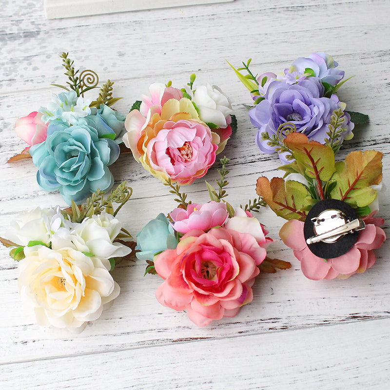 Bridal Flower Leopard Hair Clip Hairpins Barrette Wedding Decoration  p3681Buy mate