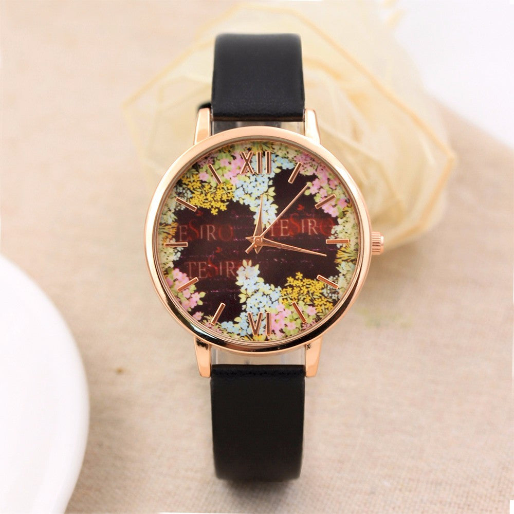 Fashion Casual Quartz-Watch PU Leather Watch Clock Woman Relojes Mujer Montre Femme P3802Buy mate