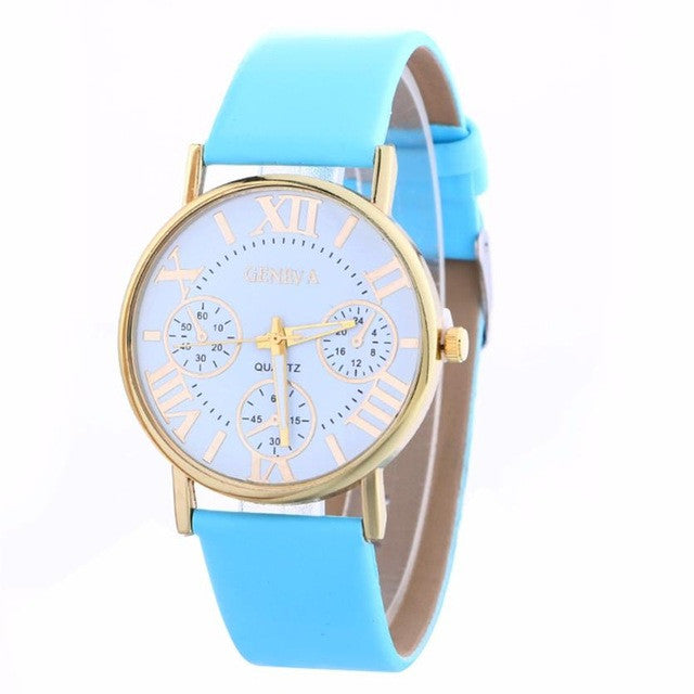Casual Fashion Ladies WristWatch For Women Vintage Watches vrouwen horloges montre femme P3369BlueBuy mate