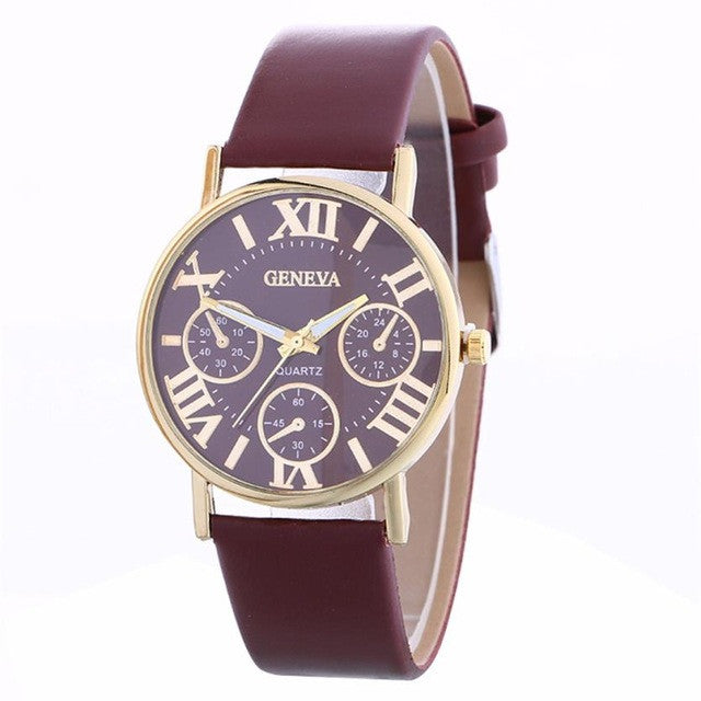 Casual Fashion Ladies WristWatch For Women Vintage Watches vrouwen horloges montre femme P3369BrownBuy mate