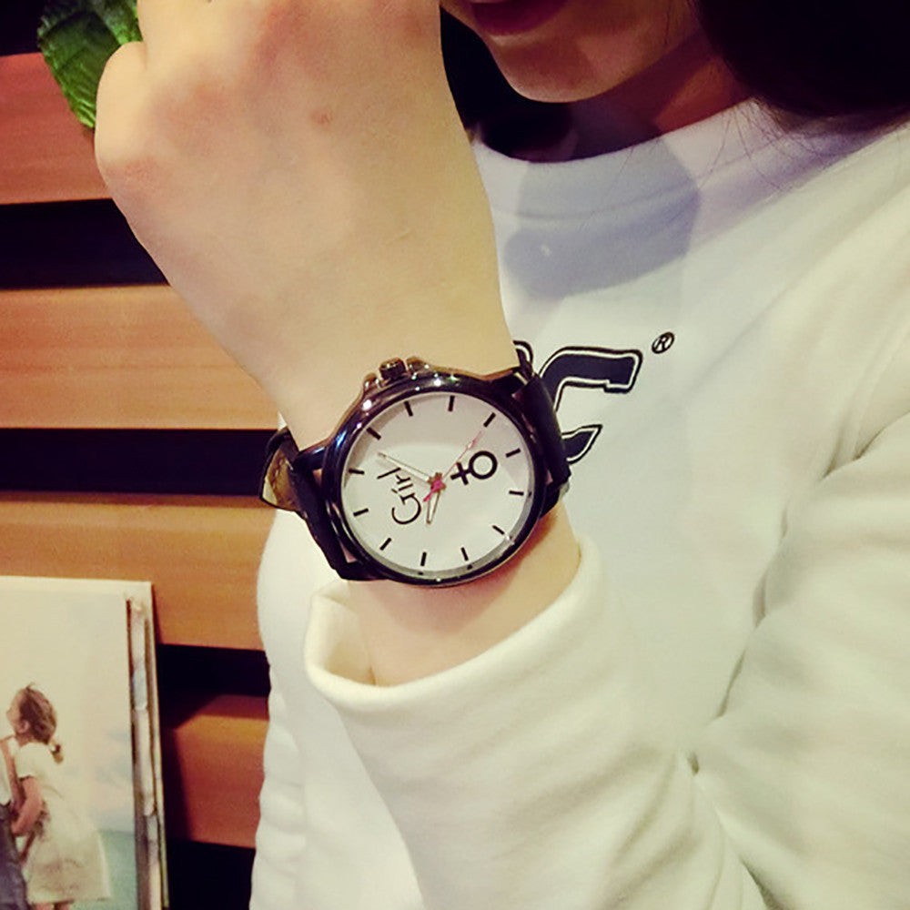 Simple Styke Lover's Quartz Analog Wrist Delicate Watch Luxury Leather Band Watches p3508Buy mate