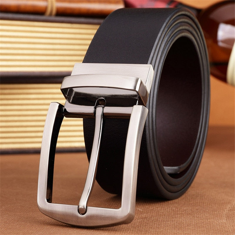 new arrival men's belts pin buckles brand fashion Real leather for business high quality luxury  p3811Buy mate