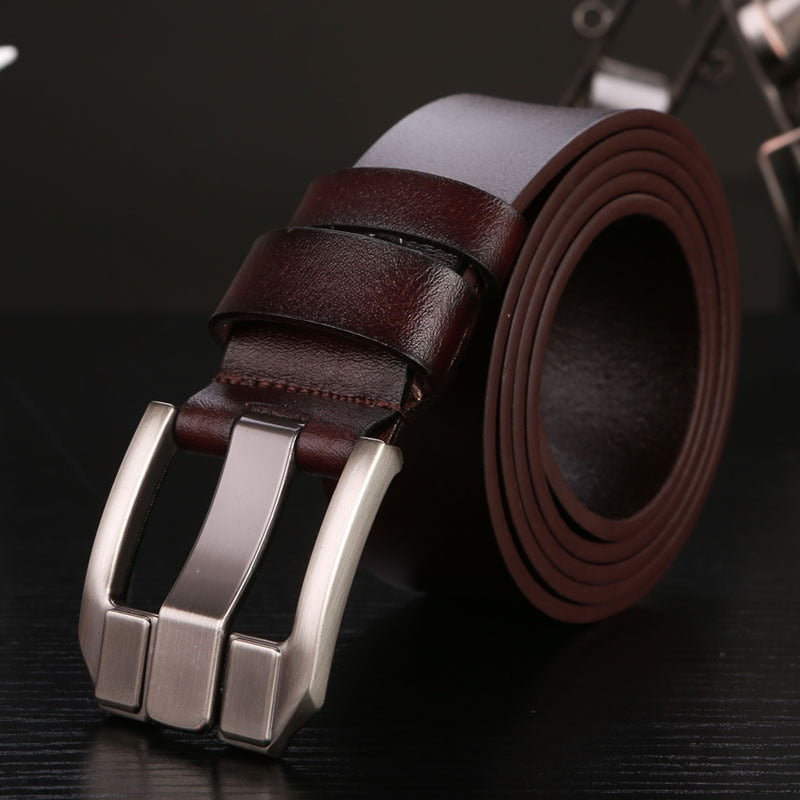 cowskin genuine leather luxury straps for male masculinos waistband for jeans high quality free shipping p3810