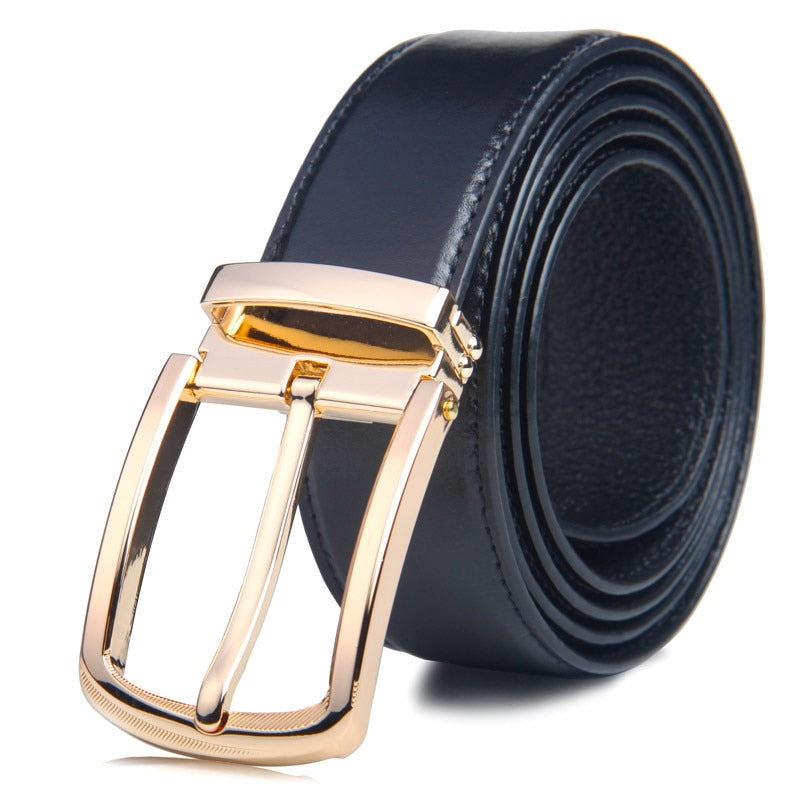 New Designer Genuine Leather for Jeans Luxury Brand Metal Buckle Belt waistband Strap ceinture Homme p3809