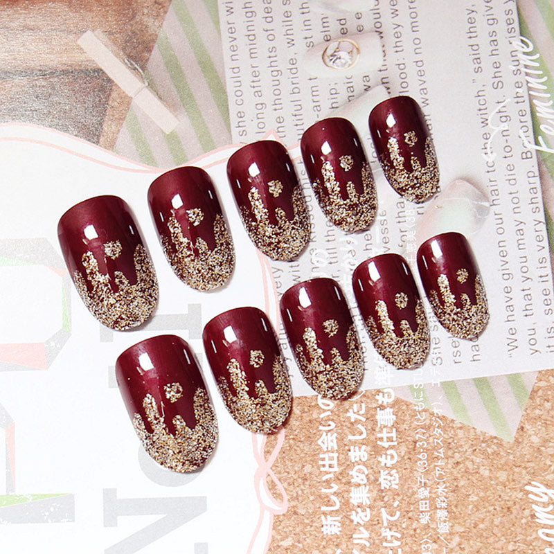 Fake Nail Shimmer Glitter Design Nail Art False Tips Full Cover Nails Art Tips p3639Buy mate