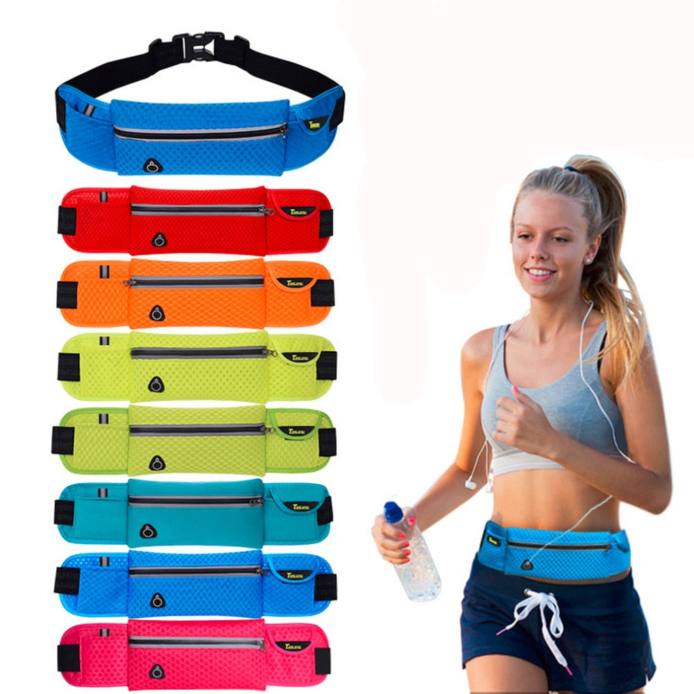 [9.5*40cm] Quality Multifunction Running Waist Bag Sport  For Music