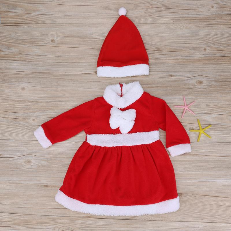 Red Christmas New Year's Costumes for Boys Girls 2pcs Baby Girls