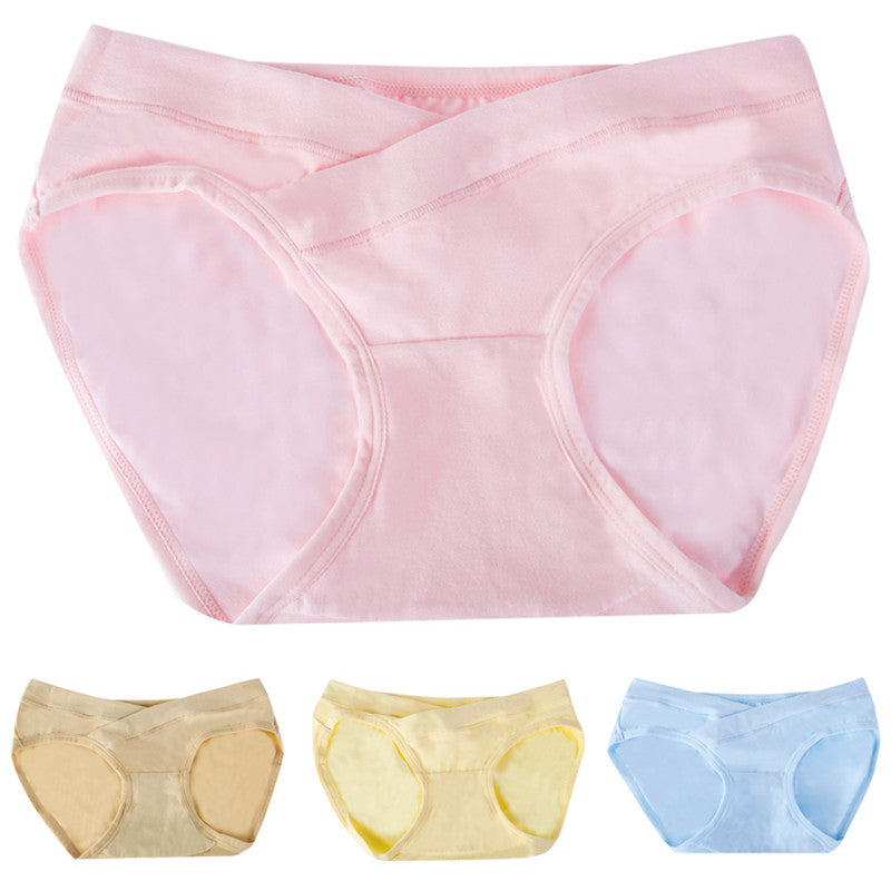 Maternity Pregnant Low-waist Panties Maternity Solid Color Briefs Pregnancy Women p2863Buy mate