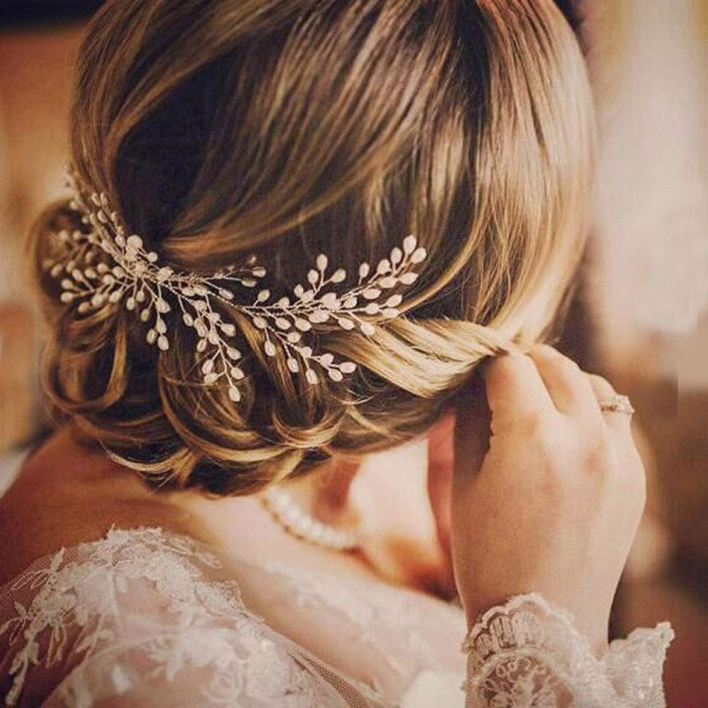 Pearl Hair Comb Hairpin Wedding Prom Barrettes Hair Ornaments Women Accessories p3689Buy mate