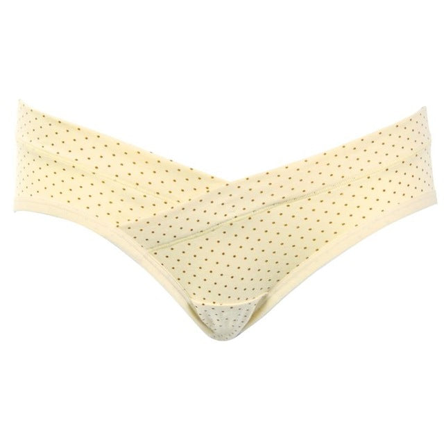 Cotton Pregnant Women Underwear Dots Printed Low Waist Maternit