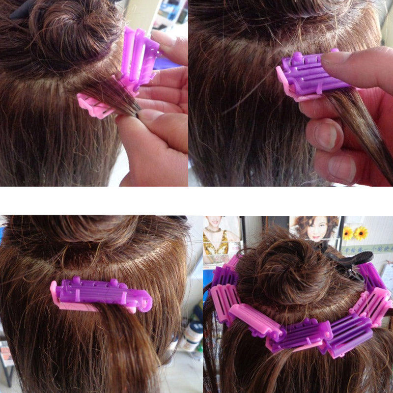 Styling Home Use Hair Rollers Hair Clip Wave Perm Rod Corn Curler Maker DIY Beauty Hairdressing Styling Tool p3294