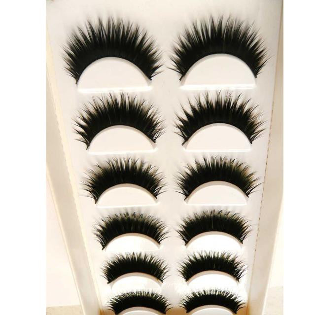 6 Pair Handmade  Natural  False Eyelashes p3271