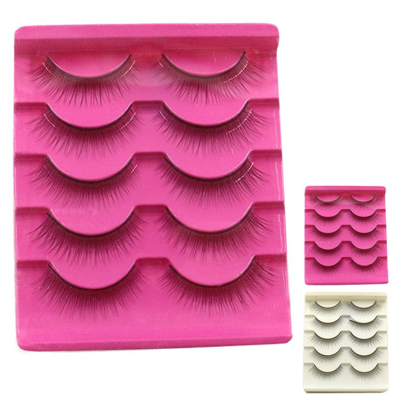 5 Pair Handmade  Natural  False Eyelashes p3253