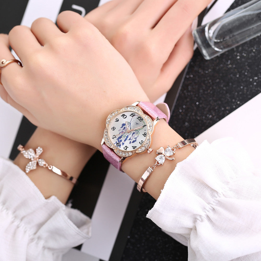 Women Fashion Leather Band Analog Quartz Round Wrist Watch Watches p3177Buy mate