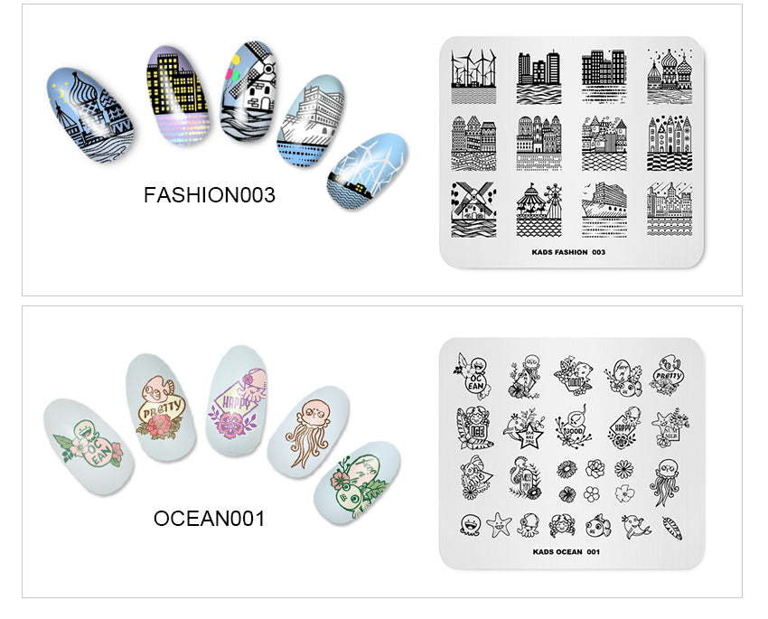 Series Stamp Ocean Flower Fashion Design Streak Theme Templates