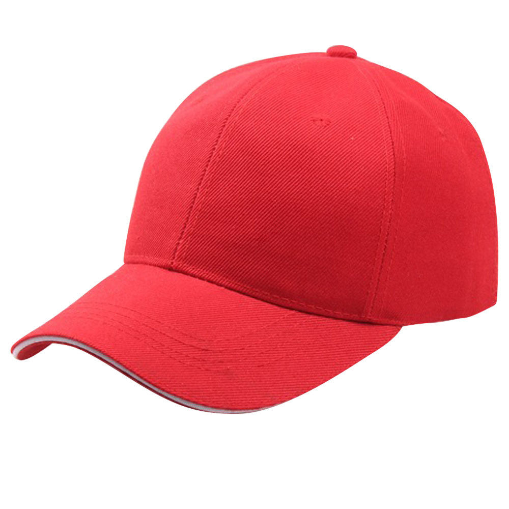 Women Men Baseball Cap Snapback Hat Hip-Hop Adjustable p3871RedBuy mate
